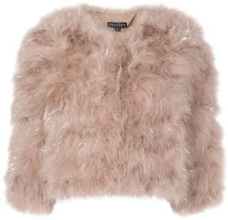 Jocelyn faux-fur cropped jacket