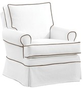 The Well Appointed House Custom Nursery Swivel Glider Using Customer's Own Material (COM)
