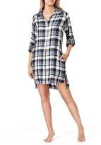 Donna Karan Plaid Flannel Sleepshirt