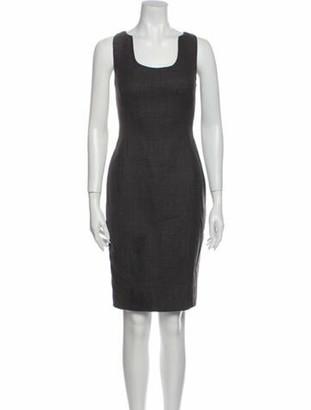 Ralph Rucci Scoop Neck Knee-Length Dress Grey