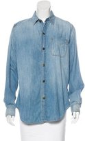Current/Elliott Denim Button-Up Top