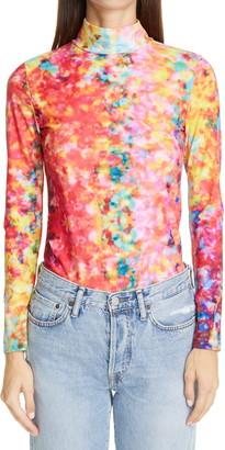 PASKAL clothes Print Mock Neck Top