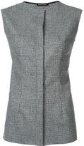 Sophie Theallet sleeveless front fastening tank - women - Spandex/Elastane/Cashmere/Wool - 6
