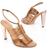 Braided Multi-Strap Metallic Sandal
