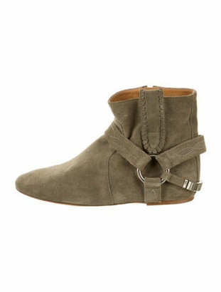 Etoile Isabel Marant Suede Ankle Boots Olive