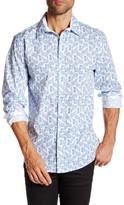 English Laundry Paisley Long Sleeve Regular Fit Shirt