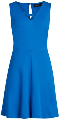 New York & Co. Lace-Up Cotton Fit and Flare Dress