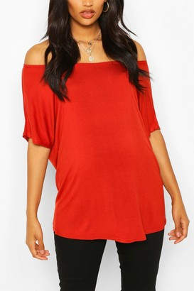 boohoo Maternity Off Shoulder T-shirt