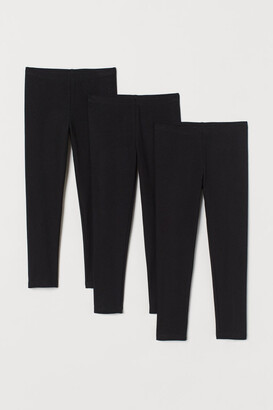 H&M 3-pack Jersey Leggings - Black