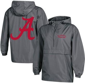 Champion Women's Charcoal Alabama Crimson Tide Packable Half-Zip Light Rain Jacket