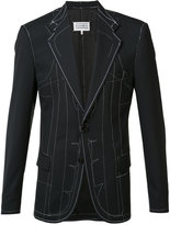 Maison Margiela sketch blazer jacket - men - Viscose/Wool/Polyimide/other fibers - 48