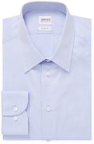Armani Collezioni Solid Spread Collar Cotton Dress Shirt