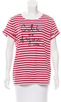 Kate Spade Striped Graphic T-Shirt