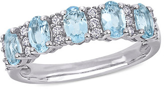 Rina Limor Fine Jewelry 14K 1.41 Ct. Tw. Diamond & Aquamarine Ring