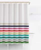 "Kate Spade Candy Stripe Cotton 72"" x 72"" Shower Curtain"