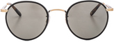 Garrett Leight Wilson 49 in Matte Black-Matte Spotted Tortoise & Pure Grey