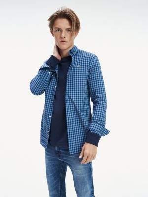 Tommy Hilfiger Pure Cotton Slim Fit Gingham Shirt