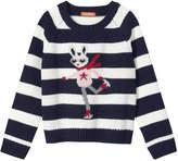 Joe Fresh Toddler Girls' Stripe Graphic Sweater, Off White (Size 5)
