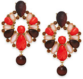 Kate Spade Burst Into Bloom Gold-Tone Stone Statement Earrings
