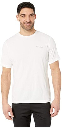 Columbia Thistletown Parktm Crew (White Heather) Men's Short Sleeve Pullover