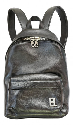 Balenciaga Black Leather Backpacks