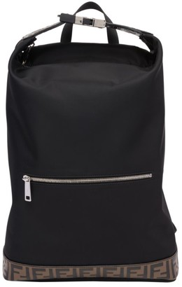 Fendi FF Embossed Nylon Backpack Tote