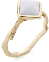 Elizabeth Showers Women's Tree of Life Silver & White Agate Ring