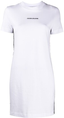 Calvin Klein Jeans logo-print mini T-shirt dress