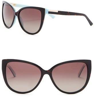Ted Baker 57mm Polarized Cat Eye Sunglasses