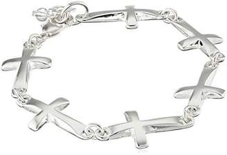 Robert Lee Morris Soho Silver Cross Link Bracelet
