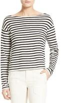 Vince Women's Bold Stripe Boatneck Tee
