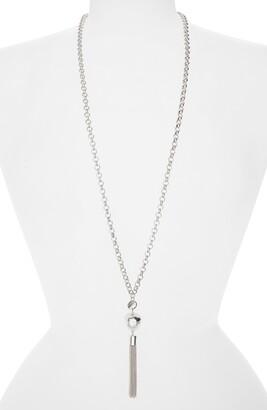 Karine Sultan Imitation Pearl Tassel Necklace