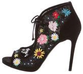 Tabitha Simmons Floral Peep-Toe Pumps