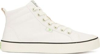 Cariuma OCA High Stripe White Canvas Sneaker