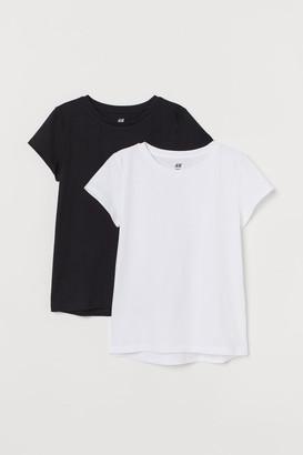 H&M 2-pack Cotton T-shirts - White