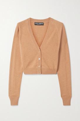 Dolce & Gabbana Cropped Cashmere Cardigan - Tan
