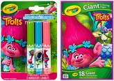 Crayola Trolls Kit Giant Coloring Pages & Pip-Squeak Marker Set