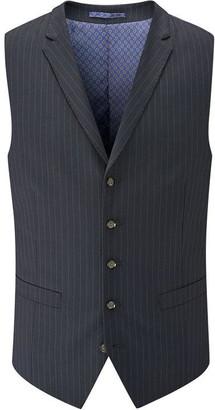 Skopes Wilkinson Navy Pinstripe Suit Waistcoat