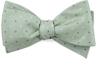 The Tie BarThe Tie Bar Sage Green Suited Polka Dots Bow Tie