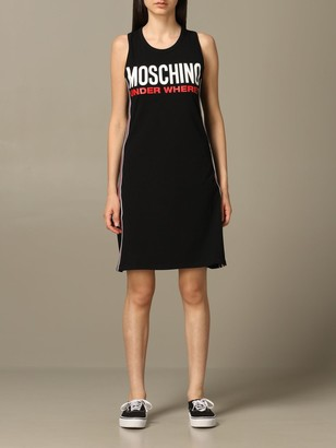 Moschino Tank Top Dress With Logo
