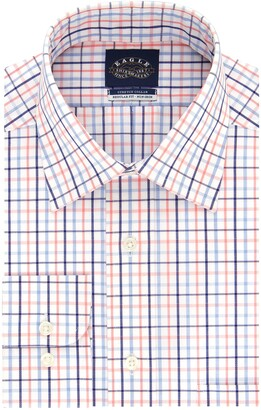 Eagle Men's Dress Shirt Non Iron Stretch Collar Regular Fit Check