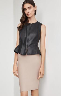 BCBGMAXAZRIA Liu Faux Leather Vest