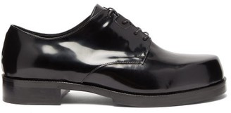Alyx Logo-debossed Patent-leather Derby Shoes - Mens - Black