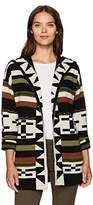 Pendleton Women's Desert Stripe Merino Wool Cardigan Sweater
