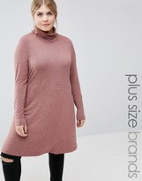 Junarose Long Sleeve Roll Neck Dress