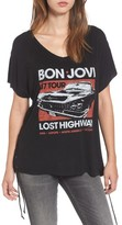 Mimichica Women's Mimi Chica Bon Jovi Lace-Up Tee