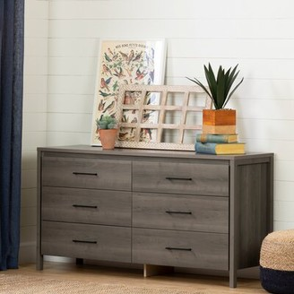 South Shore Gravity 6 Drawer Double Dresser Color: Gray Maple