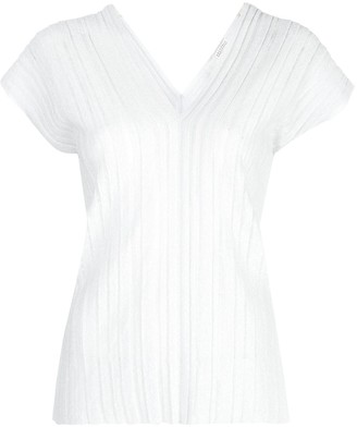 Brunello Cucinelli Pleated Knit Top