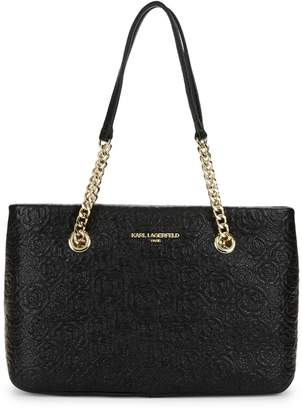 Karl Lagerfeld Paris Quilted Leather Tote Bag