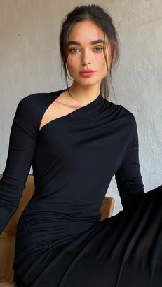 Helmut Lang Long Sleeve Jersey Dress